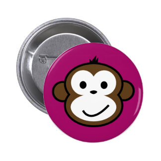 Cheeky Monkey [purple] 2 Inch Round Button