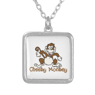 Cheeky Monkey Silver Plated Necklace
