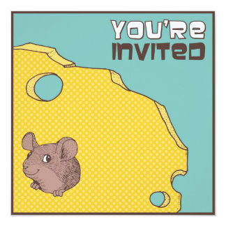 Cheeky Mouse Birthday Party Invitation