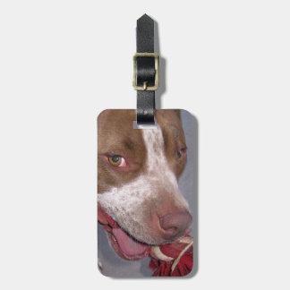 Cheeky Pitbull Luggage Tag