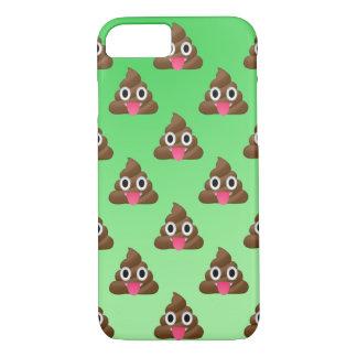 Cheeky poopy Emoji phone case green
