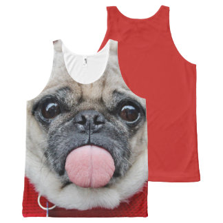Cheeky Pug All-Over-Print Tank Top
