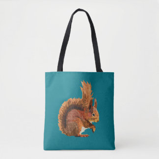 Cheeky Red Squirrel Tote Bag