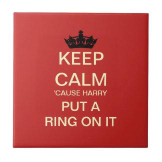 Cheeky Royal Wedding Harry & Meghan Gift Tile