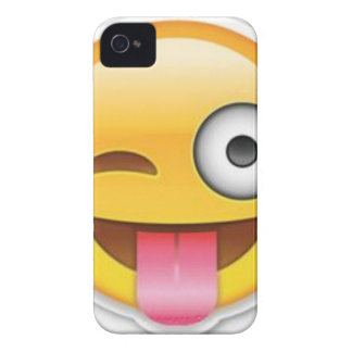 Cheeky Smiley emoji wink Case-Mate iPhone 4 Cases