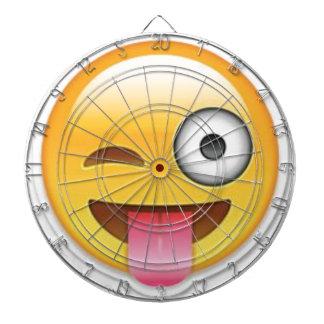 Cheeky Smiley emoji wink Dartboard