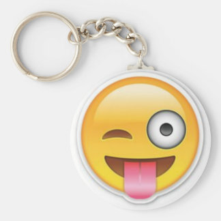 Cheeky Smiley emoji wink Keychain
