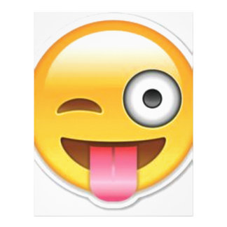 Cheeky Smiley emoji wink Letterhead