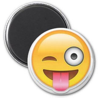 Cheeky Smiley emoji wink Magnet