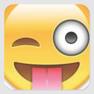 Cheeky Smiley emoji wink Square Sticker