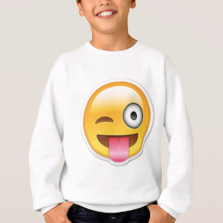 Cheeky Smiley emoji wink Sweatshirt
