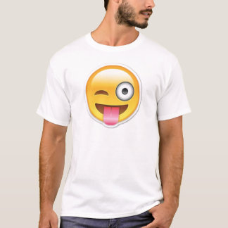 Cheeky Smiley emoji wink T-Shirt