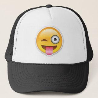 Cheeky Smiley emoji wink Trucker Hat