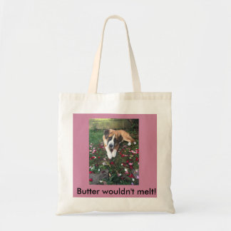 Cheeky St Bernard Pup Tote Bag