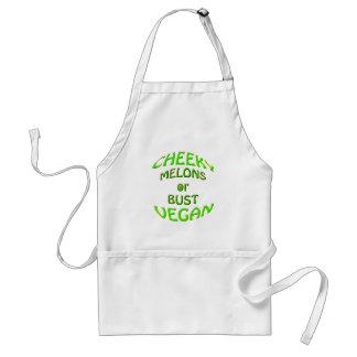 cheeky vegan  melons or bust. standard apron