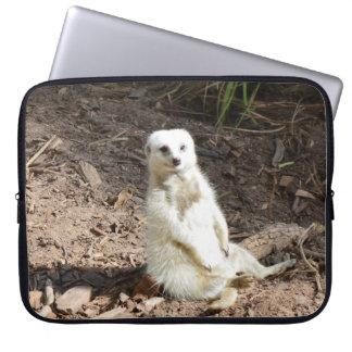 Cheeky White Meerkat, Laptop Sleeve