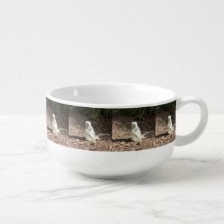 Cheeky White Meerkat, Soup Mug