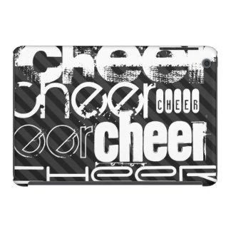 Cheer; Black & Dark Gray Stripes iPad Mini Retina Covers