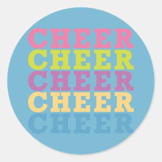 Cheer Cheer Classic Round Sticker