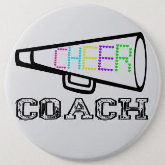 Cheer Coach 6 Inch Round Button