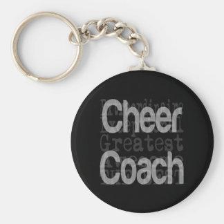 Cheer Coach Extraordinaire Basic Round Button Keychain
