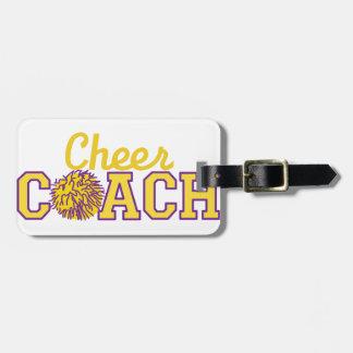 Cheer Coach Luggage Tag