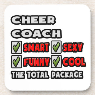 Cheer Coach ... The Total Package Drink Coaster