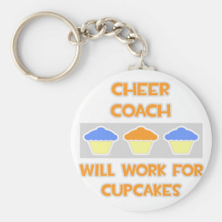 Cheer Coach ... Will Work For Cupcakes Key Chain