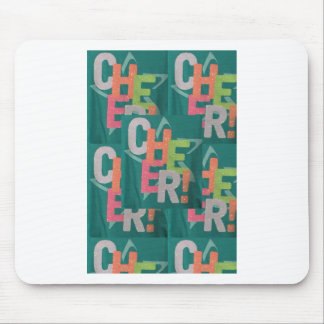 CHEER colorful artistic text pattern deco fashion Mouse Pad