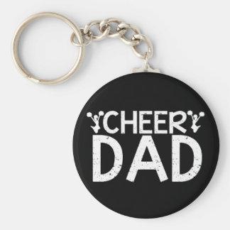 Cheer Dad Basic Round Button Keychain