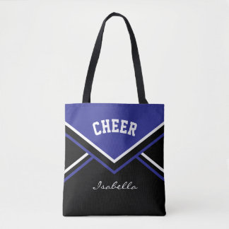 Cheer Dark Blue Cheerleader Outfit Tote Bag