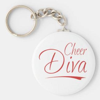 cheer diva basic round button keychain