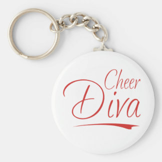 cheer diva keychain