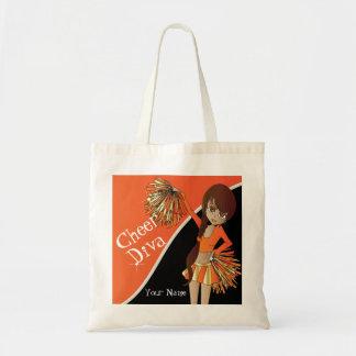 Cheer Diva Orange Cheerleader Canvas Bags
