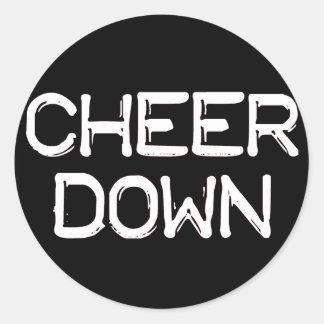 Cheer Down Sticker