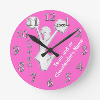Cheer Gifts from Coaches, Change COLORS, YOUR TEXT Clock