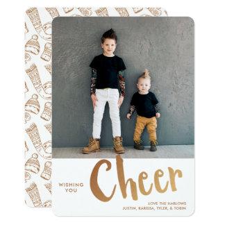 Cheer | Holiday Photo Card | Gold