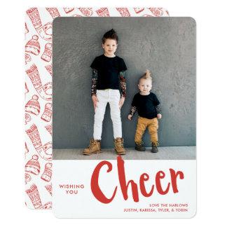 Cheer | Holiday Photo Card | Red