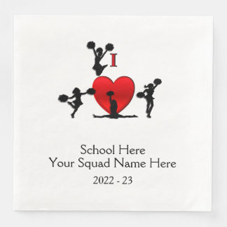 Cheer Leading Squad Event School Date Paper Dinner Napkin