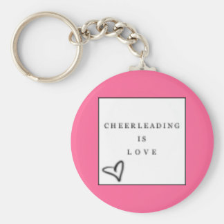 cheer=love keychain