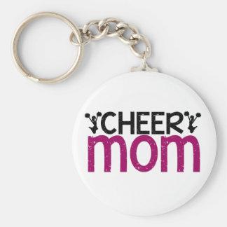 Cheer Mom Basic Round Button Keychain