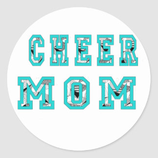 Cheer mom classic round sticker