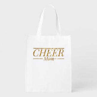 Cheer Mom Reusable Grocery Bag
