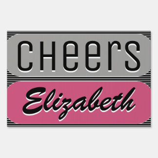 Cheer On Shout Out Sign