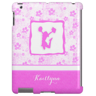 Cheer or Pom Pretty in Pink Floral iPad Case