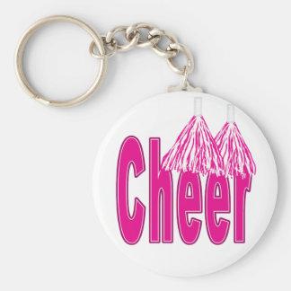 Cheer Pink Keychain