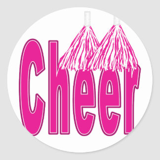 Cheer Pink Stickers