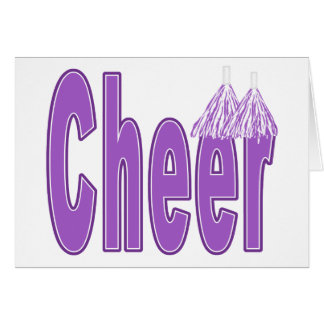 Cheer Purple Card