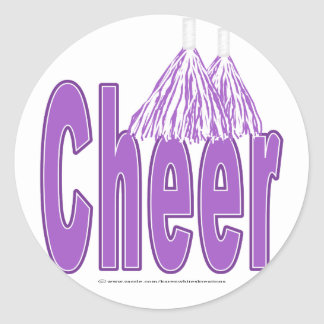 Cheer Purple Stickers