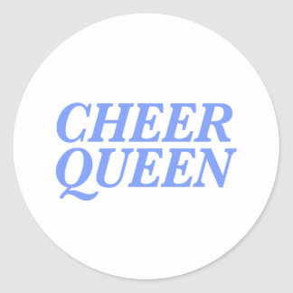 Cheer Queen Print Classic Round Sticker